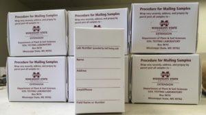 Mississippi State University soil test boxes